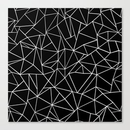 Abstraction Outline Black and White Canvas Print