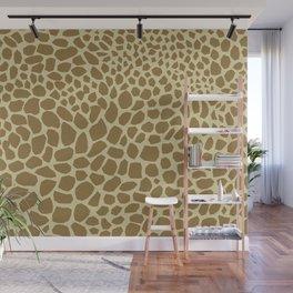 Giraffe Print Wall Mural