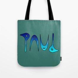 Paul (Ambigram) Namendreher Tote Bag