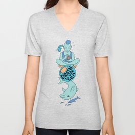 Dolphin - EYE Drain to the Sea Unisex V-Neck