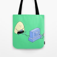 video games Tote Bags featuring Onigiri video games! by RAIKO IVAN雷虎