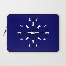 Chess Piece Design - Black and White Laptop Sleeve