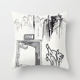 EXIT SERIES 1 Throw Pillow