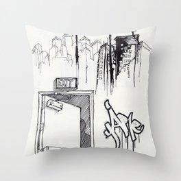 EXIT SERIES 1 Throw Pillow
