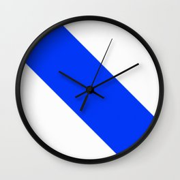 Blue and White Wall Clock