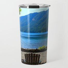 Adirondack Chairs at Lake Cresent Travel Mug