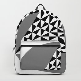 Black and White Puzzle Trigon Backpack