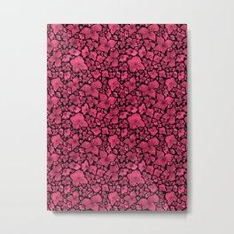 Hydrangea-Red Violet Palette Metal Print