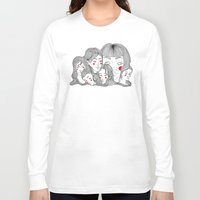 talking heads Long Sleeve T-shirts featuring Heads by meau