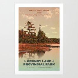 Grundy Lake Provincial Park Poster Art Print