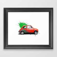 Italia - Fiat 500 retro Framed Art Print