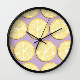 Lemon Pattern 10 Wall Clock
