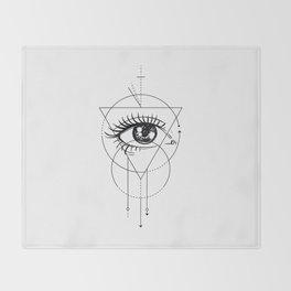 Eye of the Beholder Throw Blanket