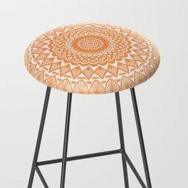 Orange Tangerine Mandala Detailed Textured Minimal Minimalistic Bar Stool
