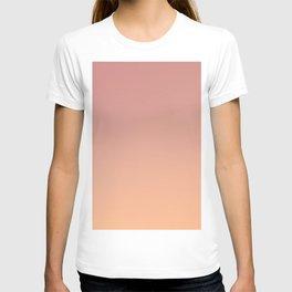 AFTER FALL - Minimal Plain Soft Mood Color Blend Prints T-shirt