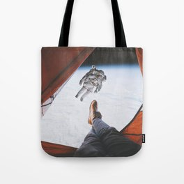 Camping in space Tote Bag