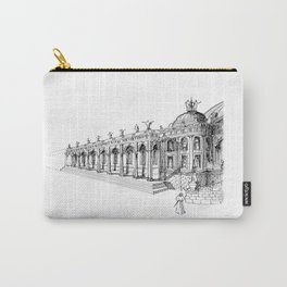 Temple . XVIII Century. Drawing by Tereza Del Pilar Carry-All Pouch