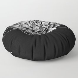 Geometric Flower Floor Pillow