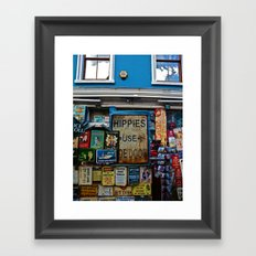 Hippies Use The Side Door Framed Art Print