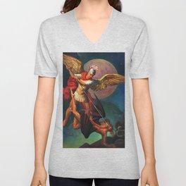 Saint Michael the Warrior Archangel Unisex V-Neck