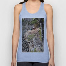 Climbing Up Sparrowhawk Mountain above the Illinois River, No. 4 of 8 Unisex Tank Top