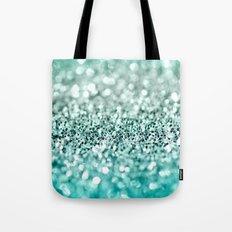 Aqua Glitter Tote Bag