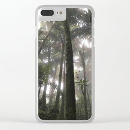 Tropical Jungle - Palm Trees Clear iPhone Case