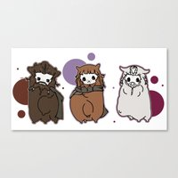 nori Canvas Prints featuring Dwarpaca family #3 by Lady Cibia