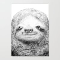 sloth Canvas Prints featuring Sloth by Eric Fan