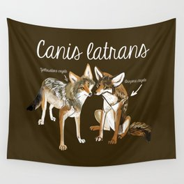 Coyotes in love Wall Tapestry