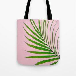 Simple palm leaves in pink Tote Bag