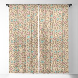 Leopard Ice Cream Sheer Curtain