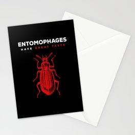 I Eat Bugs Entomophagy Stationery Cards