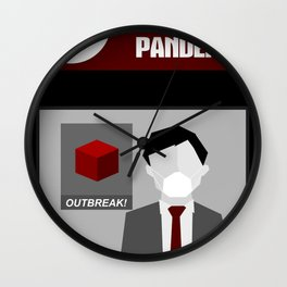 Pandemic - Red Wall Clock