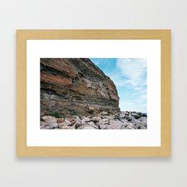 Rock Face Framed Art Print