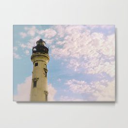 Cloudy at the Lighthouse Metal Print