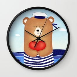 Nautical love Wall Clock