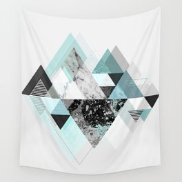 Graphic 110 (Turquoise Version) Wall Tapestry