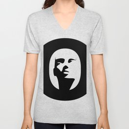 Woman - inside the O Unisex V-Neck