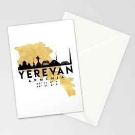 YEREVAN ARMENIA SILHOUETTE SKYLINE MAP ART Stationery Cards