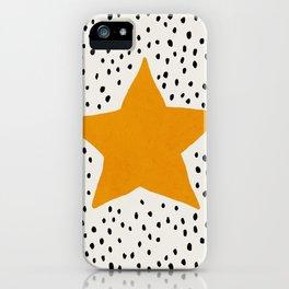 Mid century star art print iPhone Case