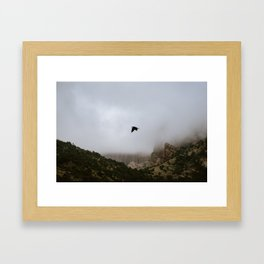 Free as a bird flying through the mountains, Big Bend - Landscape Photography Framed Art Print
