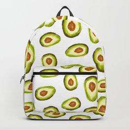 Modern hand painted avocado green brown watercolor pattern Backpack
