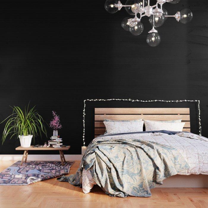 Black White Pinstripe Minimalist Wallpaper By Beautifulhomes Society6