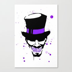 Mad Hatter Minimalism  Canvas Print