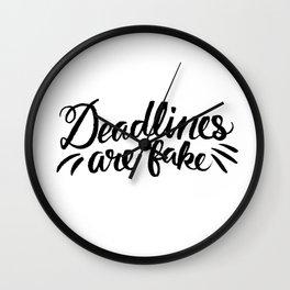 Deadlines Wall Clock