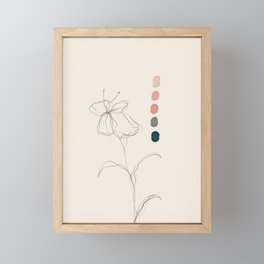 A Floral Palette Framed Mini Art Print