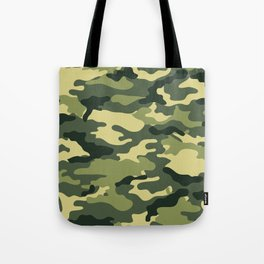 Woodland Day 1 Camouflage Seamless Pattern Tote Bag