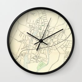 Vintage Map of Stamford CT (1893) Wall Clock