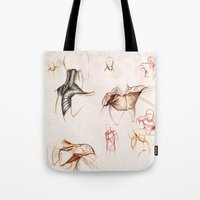 anatomy Tote Bags featuring ANATOMY by Andreas Derebucha